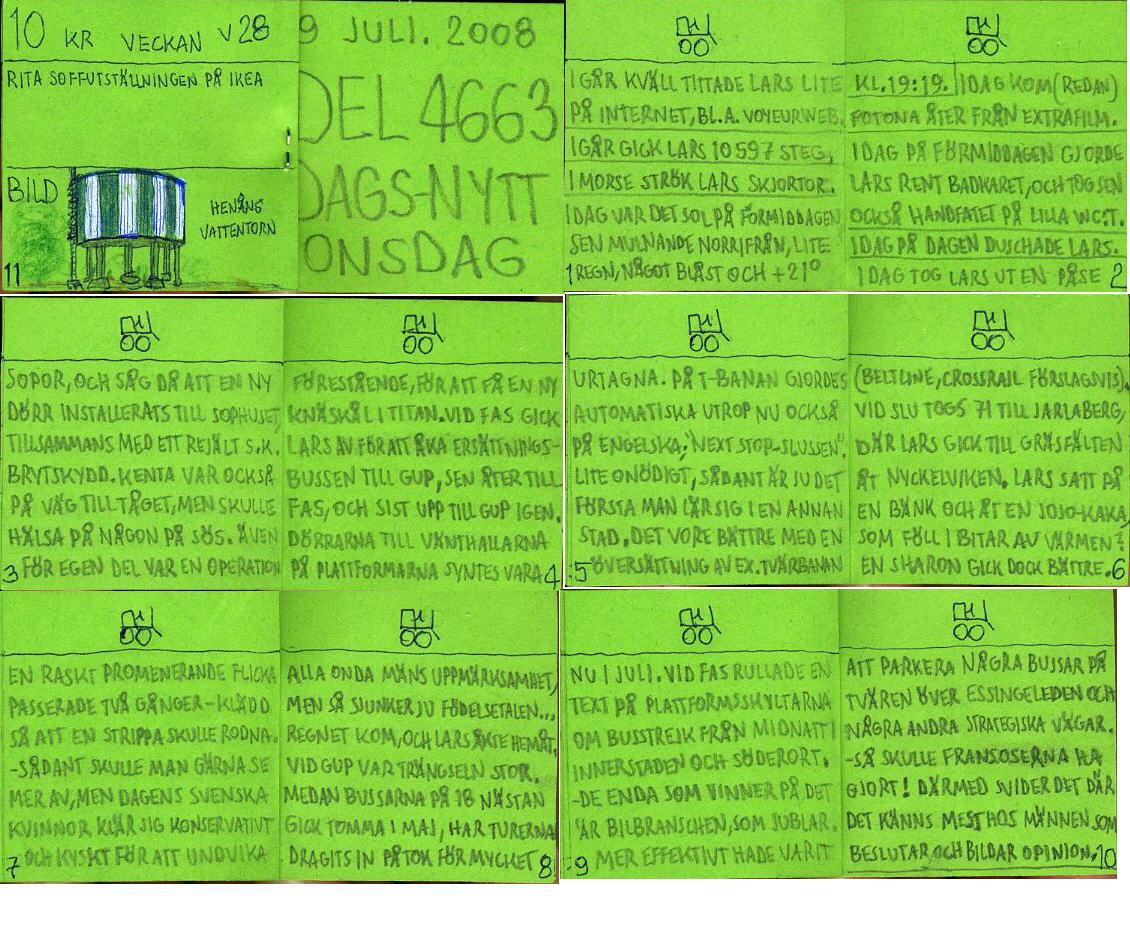 dags-nytt 9 juli 2008