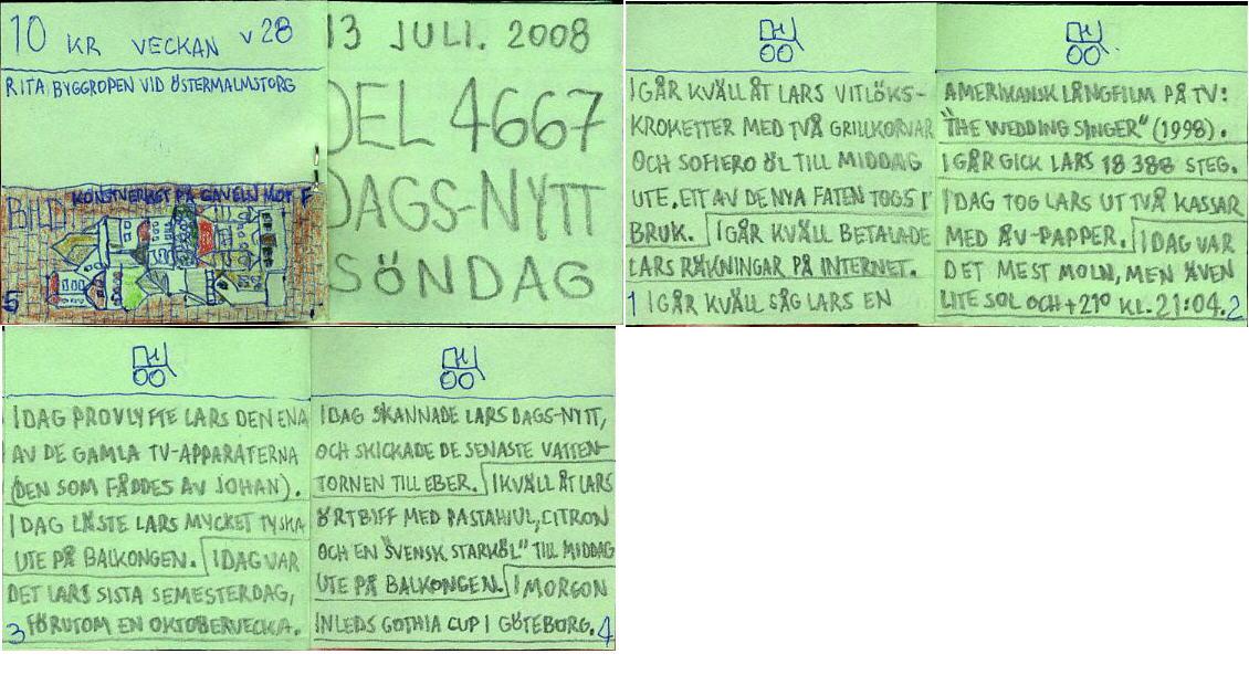 dags-nytt 13 juli 2008