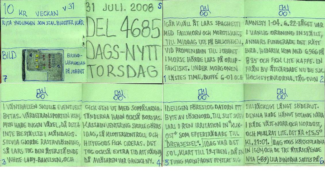 dags-nytt 31 juli 2008