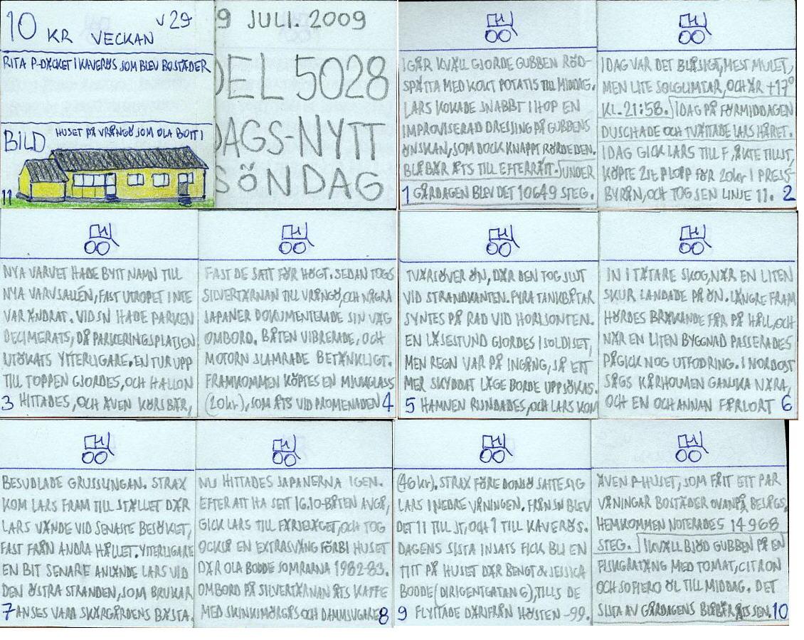 Dags-Nytt 19 juli 2009