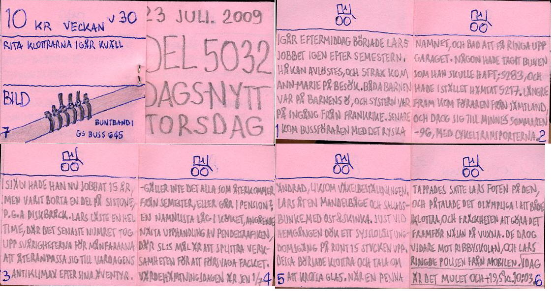 Dags-Nytt 23 juli 2009