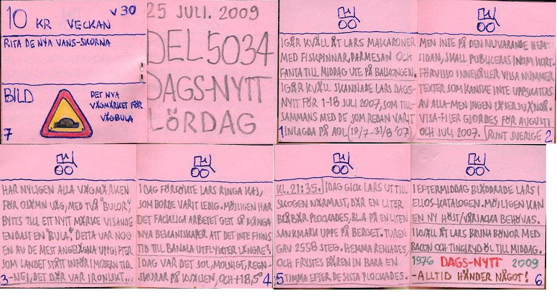 Dags-Nytt 25 juli 2009