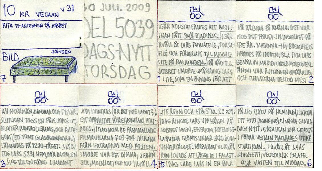 Dags-Nytt 30 juli 2009