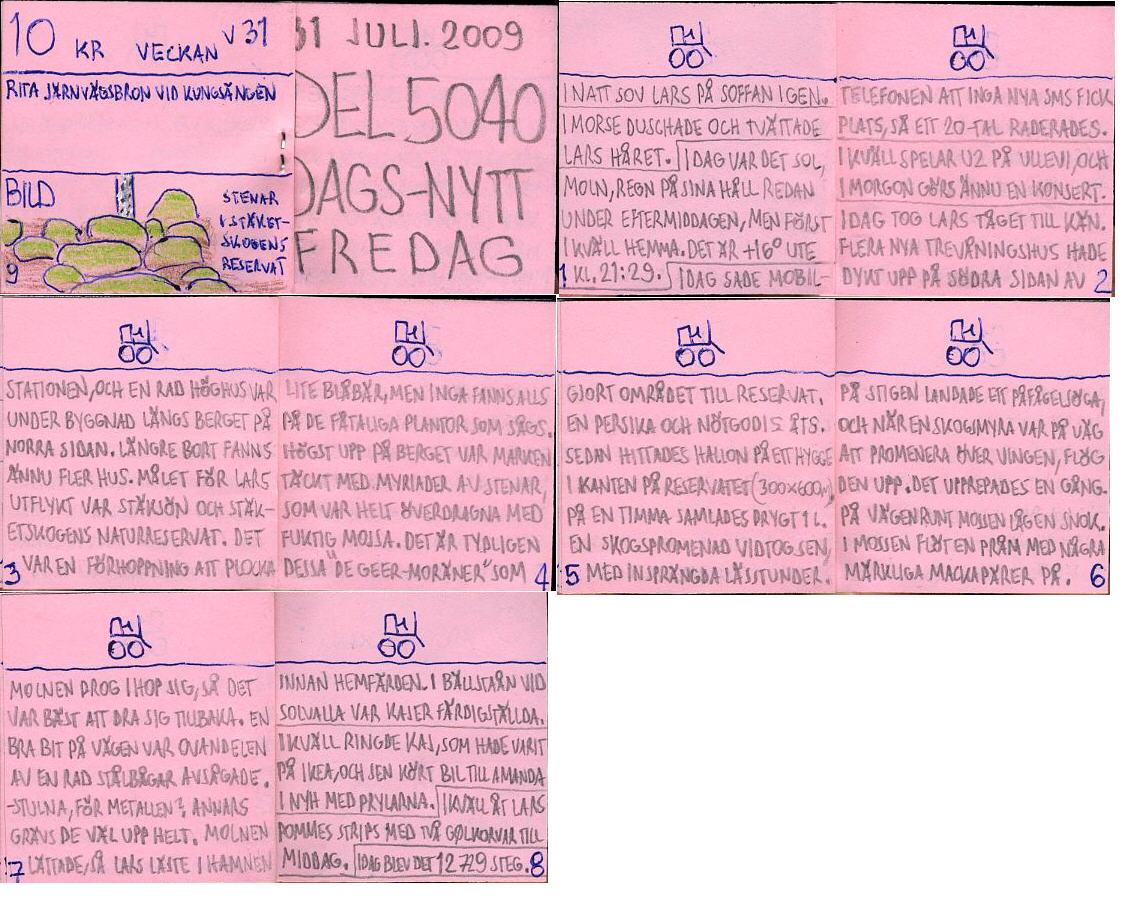 Dags-Nytt 31 juli 2009